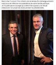 Capture d'écran du FB de Laurent Wauquiez, avec François Fillon.
