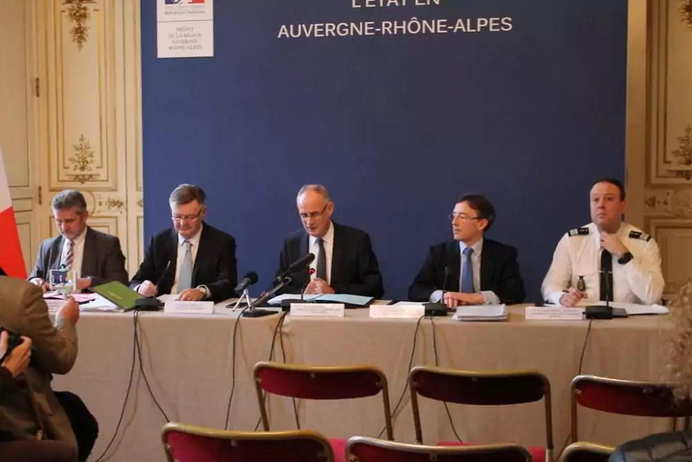 Le 9 février, présentation de la police de sécurité du quotidien en présence par Stéphane Bouillon, le préfet du Rhône. ©AB/Rue89Lyon