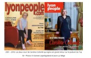 Capture d'écran du magazine Lyon People.