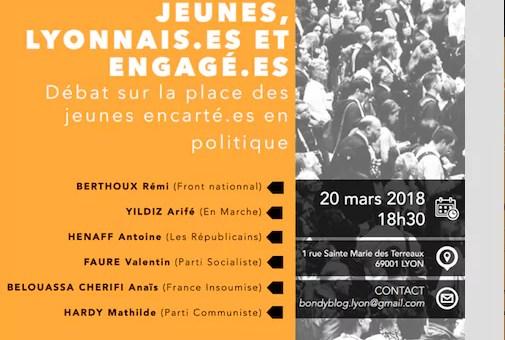 [Vidéo] Avoir 20 ans et s'engager dans un parti politique, un débat du Lyon Bondy Blog