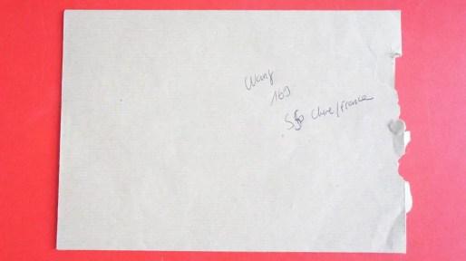 Photo d'une enveloppe qui aurait contenu un versement en liquide. ©LB/Rue89Lyon