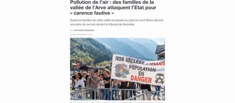 Des habitants de la vallée de l'Arve attaquent l'Etat pour «carence fautive»