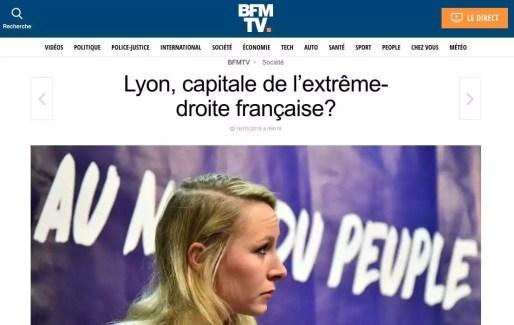 Marion Maréchal Le Pen. Capture site BFM TV