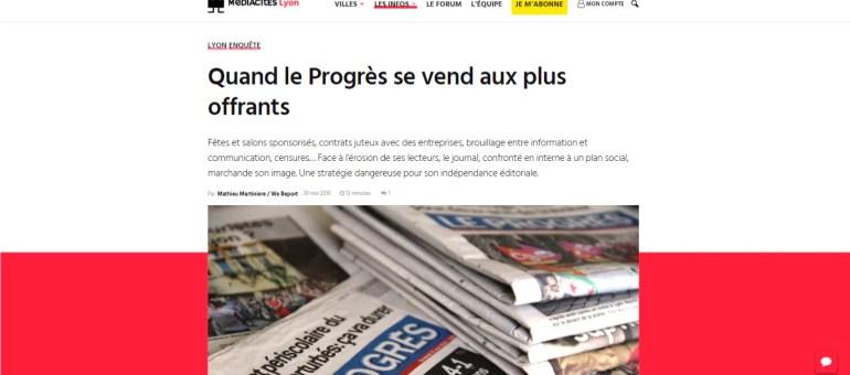 Partenariats et et publireportages : quelle indépendance journalistique au Progrès ?