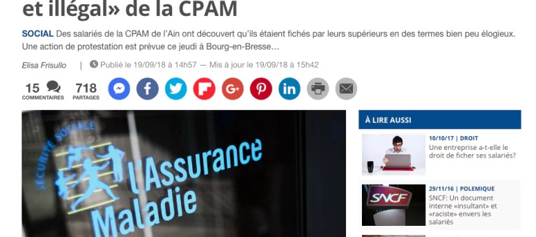 Des salariés de la CPAM de l'Ain jugés « grognons, hésitants, déchirés, bons petits soldats… » par leurs supérieurs dans un ficher interne