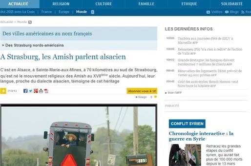 A Strasburg, les Amish parlent alsacien