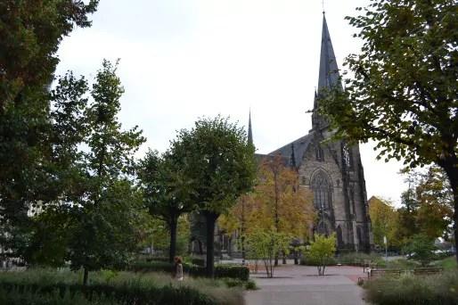 La Place Arnold et l'église Saint-Maurice (Photo AB / Rue89 Strasbourg)