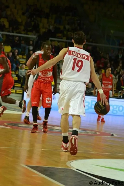 Arnaud Imhoff - ici contre Chalon-sur-Saône - a pris part à deux rencontres de Pro A cette saison (photo Audrey Feltz)