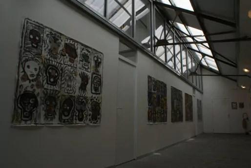 Zone d'art, Le couloir, Vue de l'exposition Claude Gagean / Crédit photo : Julien Raude