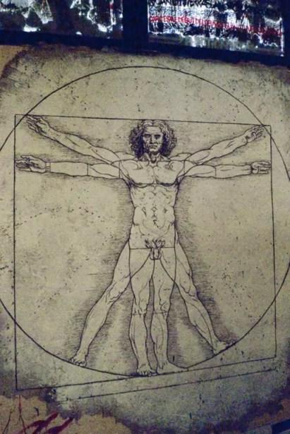 Homme de Vitruve, l'harmonie de l'Homme et de l'univers (Photo Thierry Ehrmann / FlickR cc)