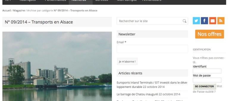 Un dossier sur les transports en Alsace
