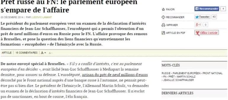 Le Parlement européen ouvre une enquête sur Jean-Luc Schaffhauser (FN)