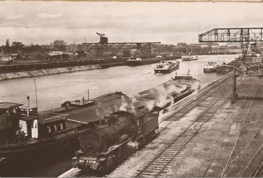 Bassin de l'Industrie, dans les années 1960 (Doc. VNF)