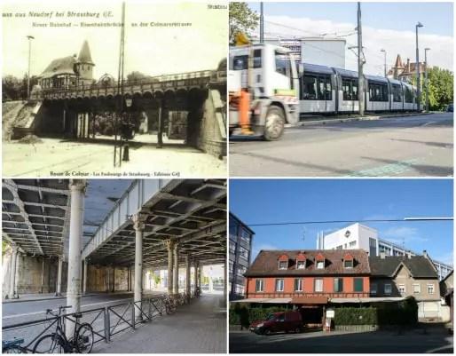 Poste d'aiguillage et voie ferrée datent de 1905 - Le pont Suchard prend le nom de l'usine de sucreries rachetée par Suchard en 1965 (Doc Archi-Strasbourg - Photos Quentin Bonvalot et MM)