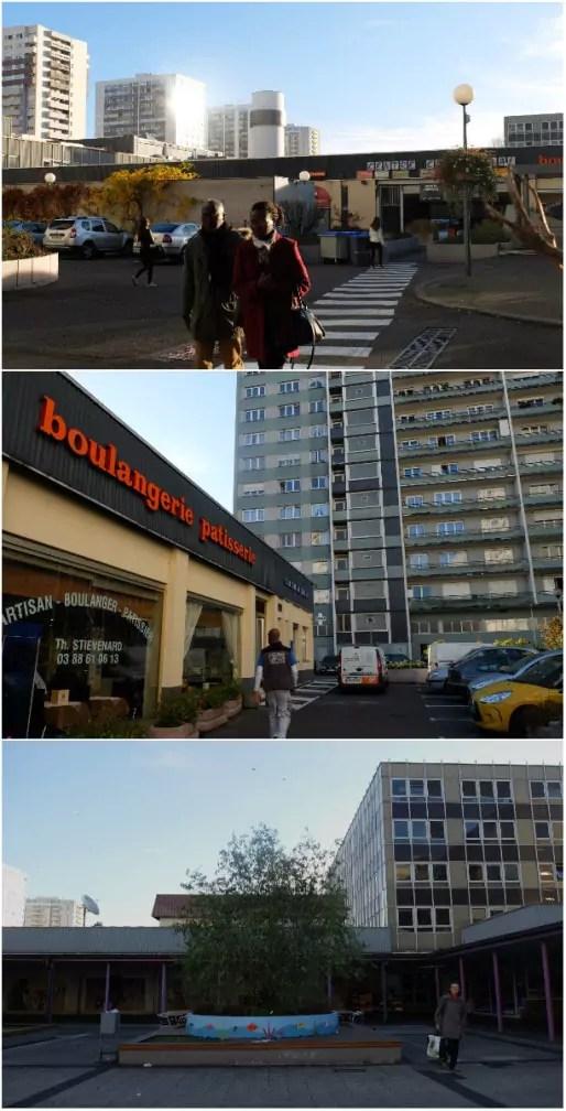 Le centre commercial de l'Esplanade, un peu désuet (Photos MM / Rue89 Strasbourg)