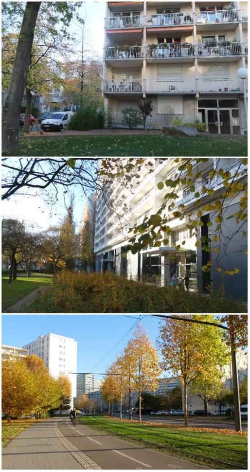 Aujourd'hui, un quartier dense, mais aéré et vert (Photos MM / Rue89 Strasbourg)