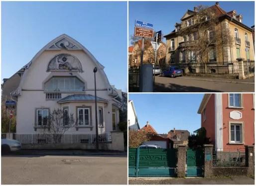 Maisons cossues du quartier des empereurs (Photos MM / Rue89 Strasbourg)