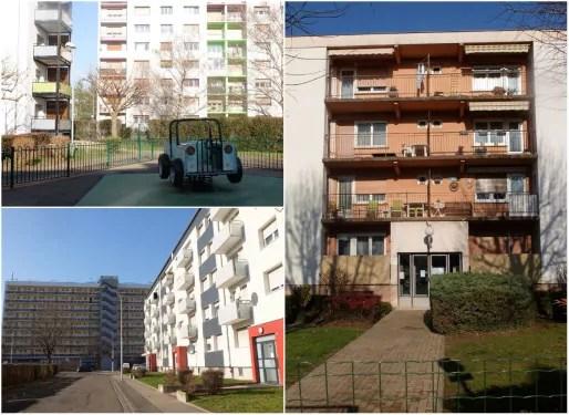 La cité du Hohberg aujourd'hui, rénovée par le bailleur Habitation Moderne (Photos MM / Rue89 Strasbourg)