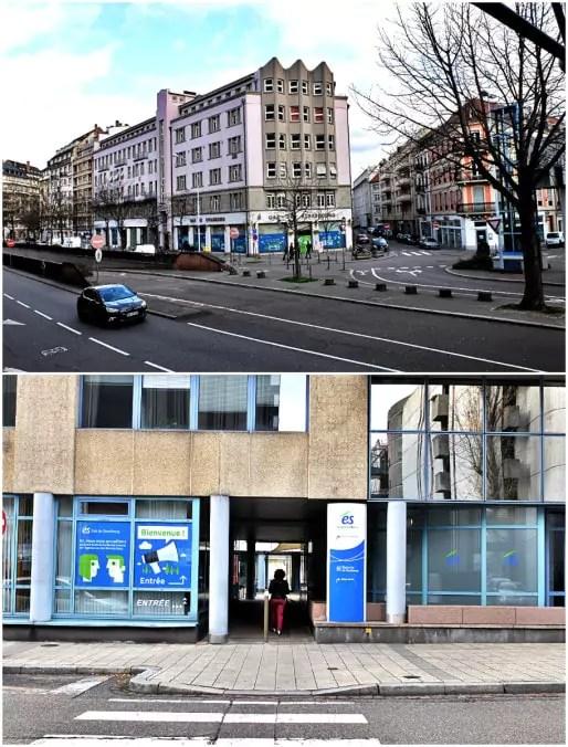 Les sièges de Réseau Gaz de Strasbourg et Electricité de Strasbourg sont à deux pas l'un de l'autre (Photos MM / Rue89 Strasbourg)