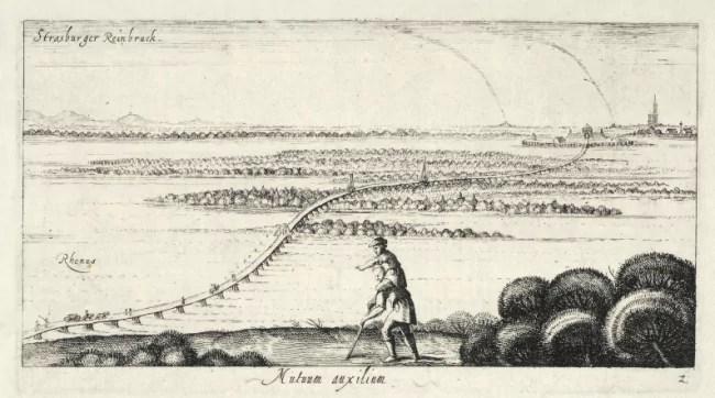 """Gravure de Jacob Van der Heyden, 1613, """"L'aveugle et le paralytique"""" (Archives Strasbourg)"""