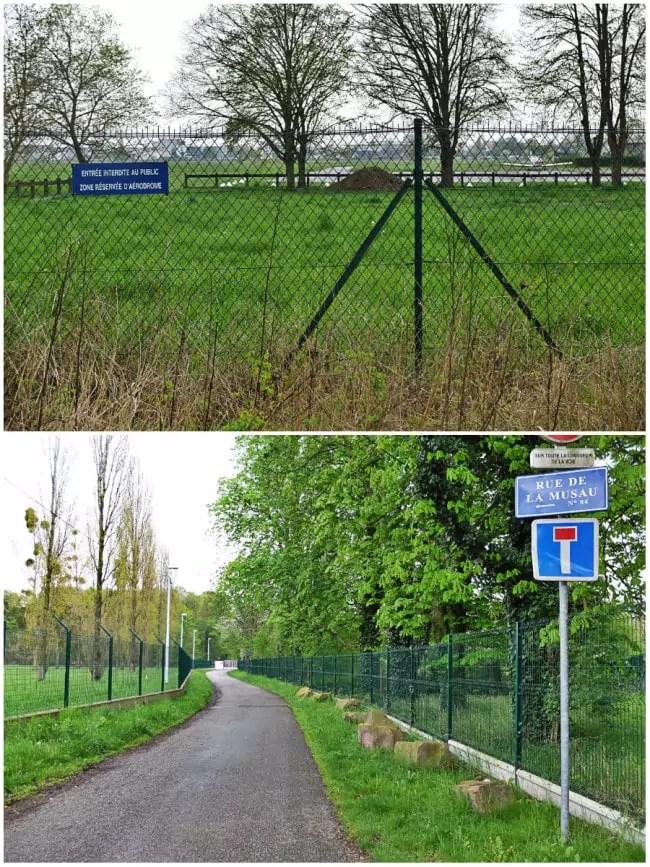 L'aérodrome et la zone de captage d'eau potable du Polygone, au sud de la Musau (Photos MM / Rue89 Strasbourg)