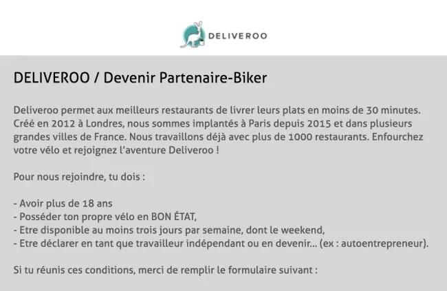 Capture d'écran du site Deliveroo France (Deliveroo France)