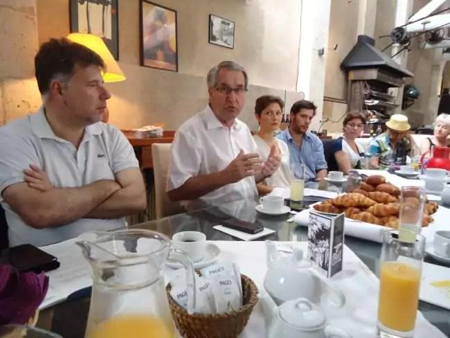 Philippe Richert et Pascal Mangin s'adressent à la fois à la presse et aux artistes (Photo MB / Rue89 Strasbourg)
