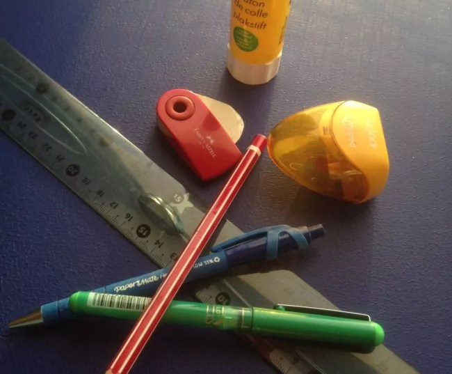Chez les tous petits, l'achat des fournitures scolaires n'est pas le plus difficile (Photo Maîtresse Charlotte / Rue89 Strasbourg / cc)
