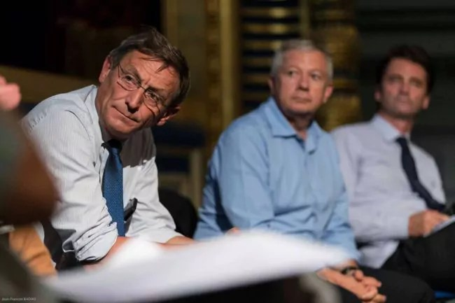 """Robert Herrmann, président de l'Eurométropole : """"personne ne dit que le GCO va régler le problème des bouchons sur l'A35."""" (Photo Jean-François Badias)"""