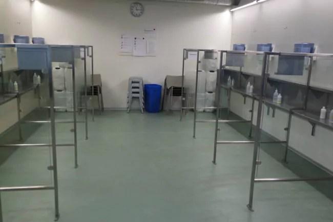 La salle d'injection peut accueillir une dizaine d'usagers à la fois (Photo DL/Rue 89 Strasbourg/cc)