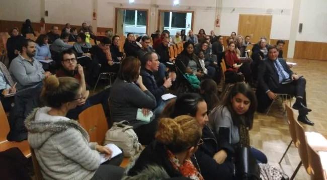 Les parents d'élèves étaient invités le 10 novembre à rencontrer les responsable de la Ville et de l'Education nationale au centre culturel Marcel Marceau. (Photo : CG : Rue89 Strasbourg / cc)