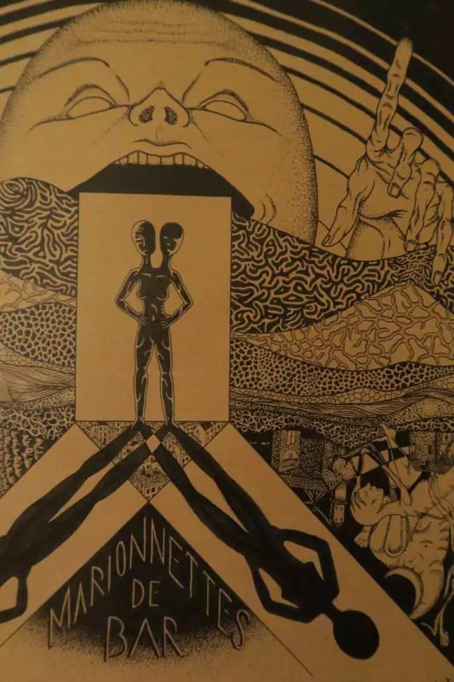 """Détail de l'affiche du spectacle """"Freaks"""", vendue à prix libre à la fin du spectacle (Image Cie Les Rémouleurs - Photo MB/Rue89 Strasbourg)"""