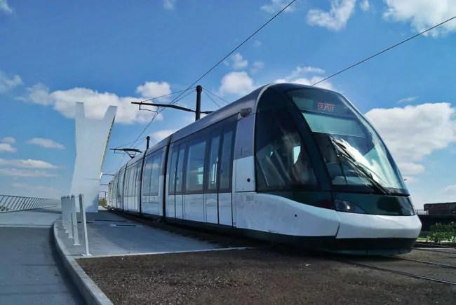 Les questions juridiques posées par le tram transfrontalier ne sont pas toutes réglées (Photo KZ / Rue89 Strasbourg / cc)