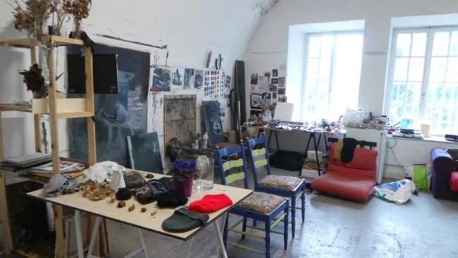 Les ateliers du Bastion XIV sont loués aux artistes pour 50 euros par mois (Photo RG / Rue89 Strasbourg)