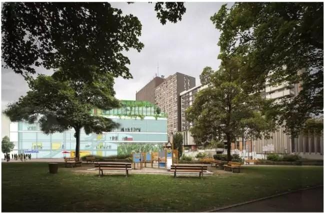 Le complexe des Halles doit agrandir le centre commercial et accompagner la rénovation du quartier (doc remis)