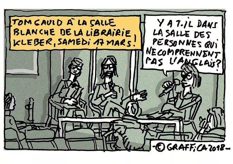 Le dessinateur Tom Gauld à la librairie Kléber