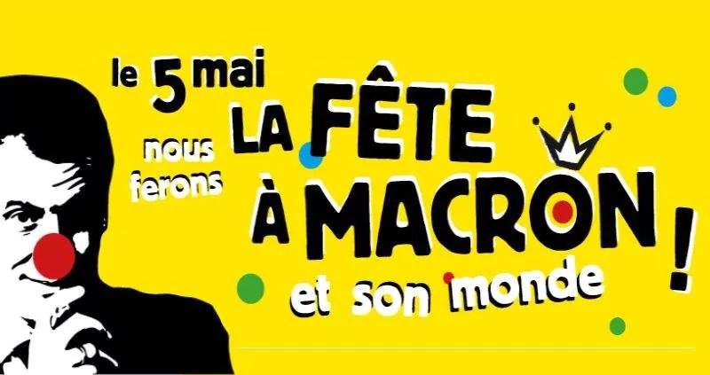 Manifestation et gueuleton pour la «fête à Macron» samedi