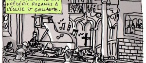 Au récital de piano de Frédéric Rozanes à l'église Saint-Guillaume