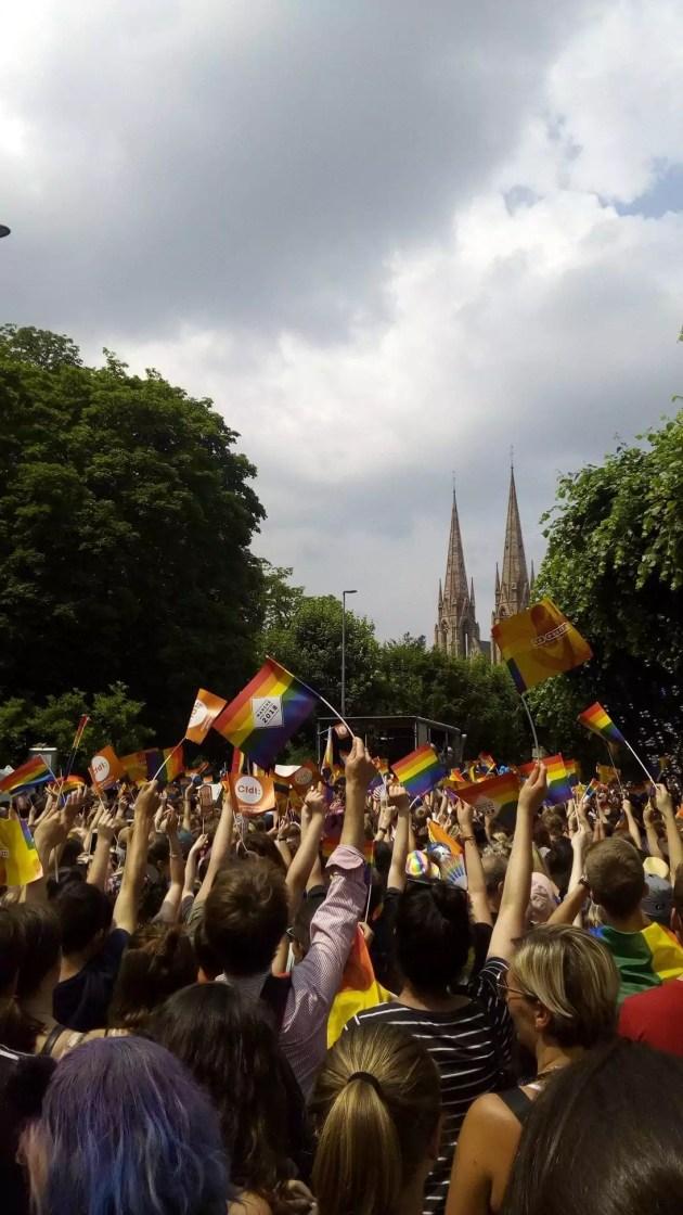 A Strasbourg, la marche des visibilités est un des rares moments festifs et public pur la communauté LGBT (Photo DL/Rue 89 Strasbourg/cc)
