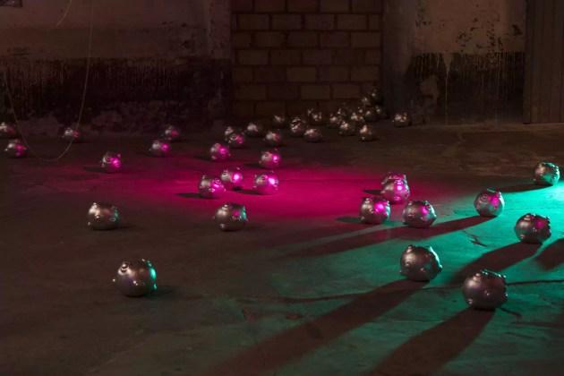 Vue de l'œuvre More, de Coralie Lhote (photo association Le Tube)