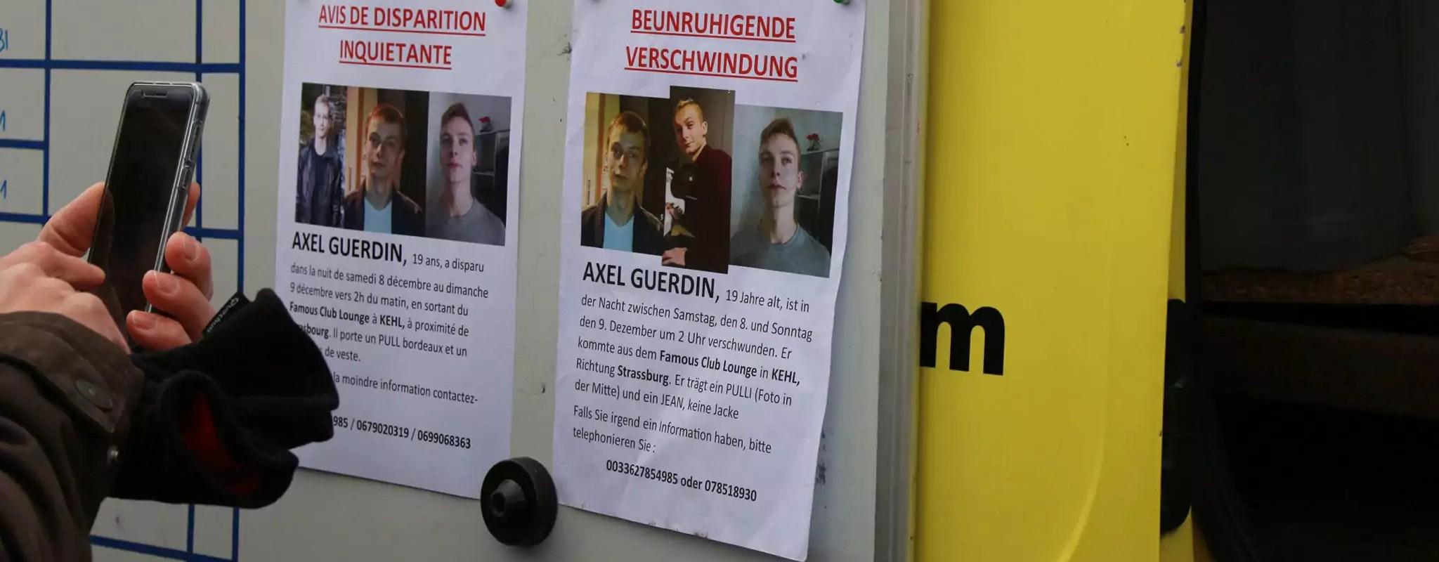 Axel, l'étudiant strasbourgeois disparu, aperçu sur une caméra de surveillance au Port-du-Rhin