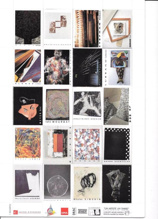 Planche des timbres édités en 1992 (Document remis / DR)