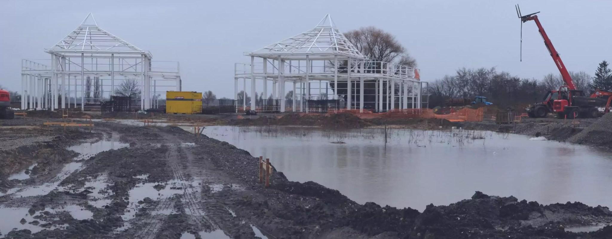 Béton, tôle et poteaux… Balade dans le chantier de la zone commerciale de Vendenheim