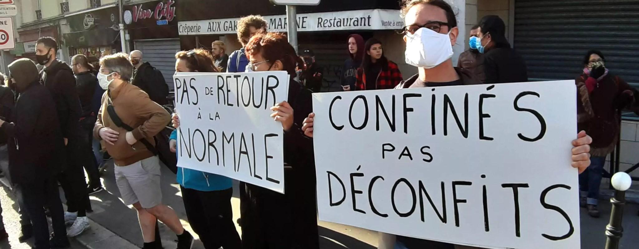 Première manifestation samedi, avec distanciation sociale, contre le gouvernement