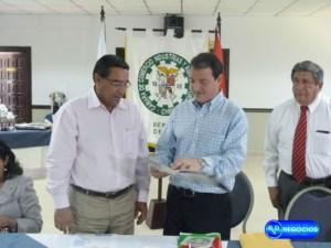 Presidente de la Cámara de Comercio de Chiriquí y el Viceministro de Comercio Exterior