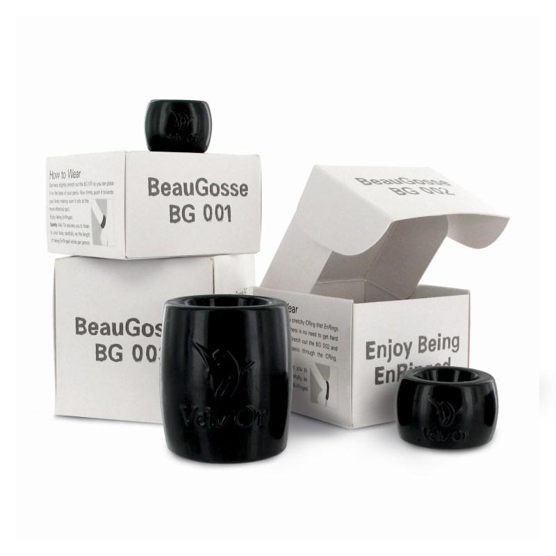 Coffret Beau Gosse - 3 anneaux cockring et ballstretcher
