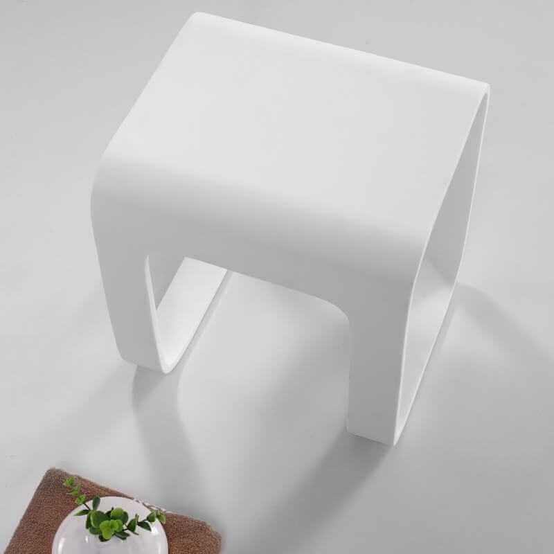 Tabouret Solid Surface Blanc Strat Tabouret Et Sige