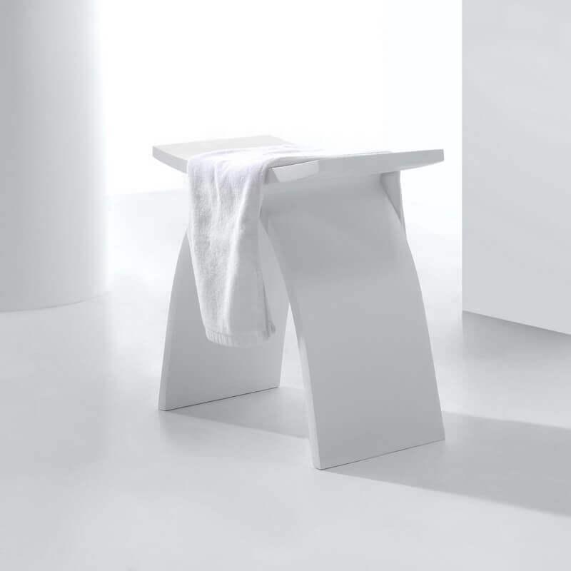 Tabouret Solid Surface Blanc Minral Tabouret Et Sige