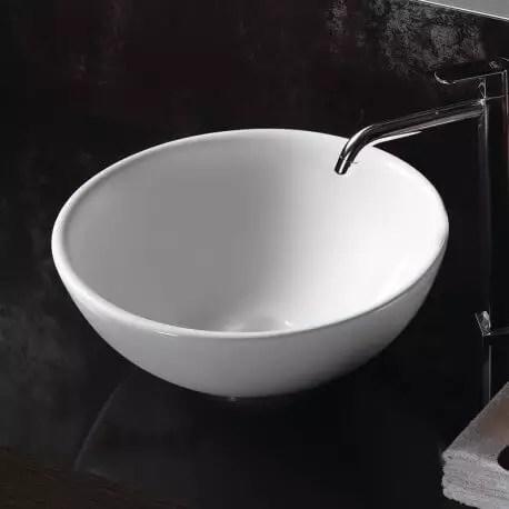 vasque a poser ronde ceramique 40 cm pop