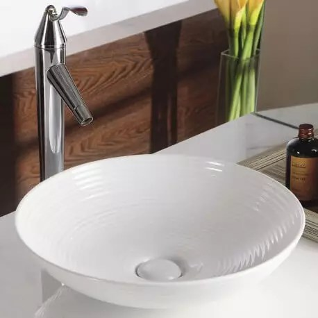Vasque A Poser Ceramique Blanche Gossip Vasques Rondes Salle De Bain